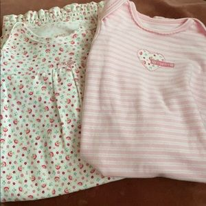 2 Sleeplikely baby nightgowns